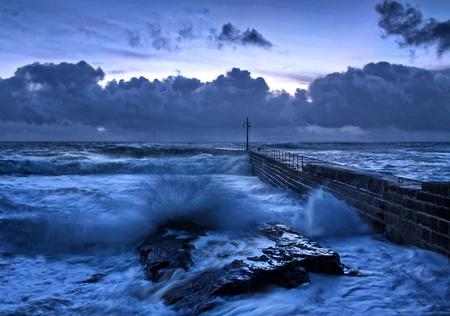 Stormy Blue Sea Stock Photo - 12508784