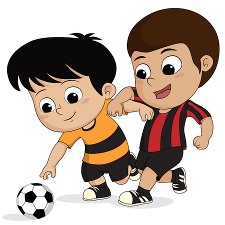 cartoon soccer kid.vector and illustration. Ilustrace