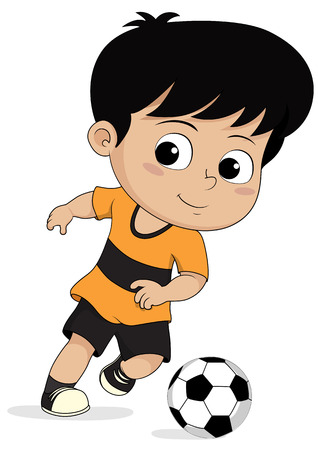 cartoon soccer kids.vector and illustration. Illustration
