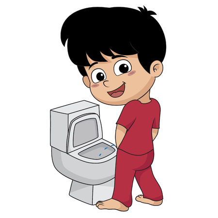 kid peeing.vector and illustration.