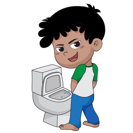 子供 peeing.vector とイラスト。