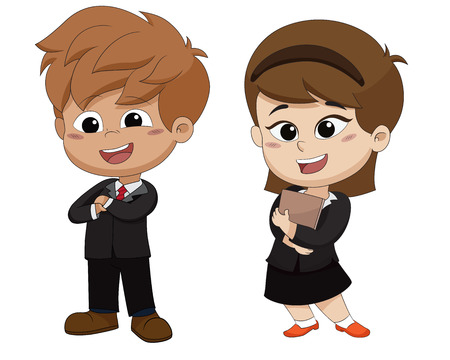 Set of occupation kid business.Vector and illustration.