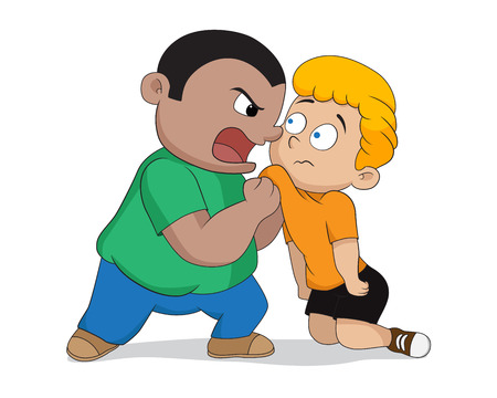 Naughty kids bullying the weak.Vector and illustraton.