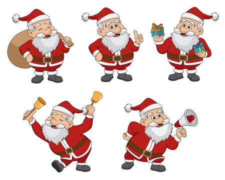 크리스마스 산타 Claus.vector 및 그림의 집합입니다.