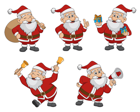 Set of Christmas Santa Claus.vector and illustration. Illusztráció