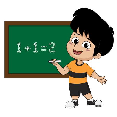 아이 class.vector 및 그림에서 수학 learing입니다. 일러스트