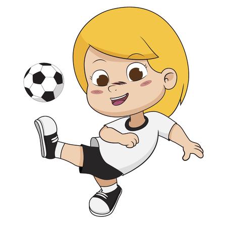 Cartoon soccer kid.Vector and illustration.