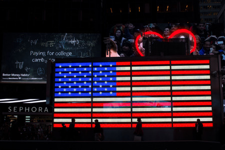 time's: Times Square at night, the heart of America Stock Photo