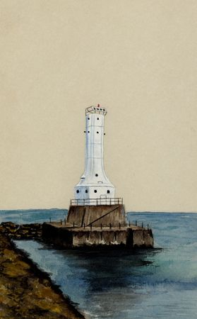 realism: Huron Harbor Lighthouse