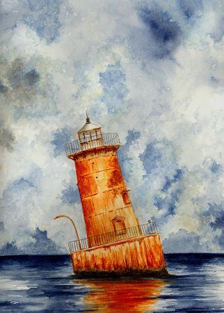 Faro de la isla de objetos cortantes  Foto de archivo - 7376525