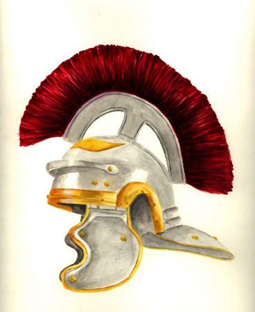 제국의 로마 백부장 사슬 투구 투구