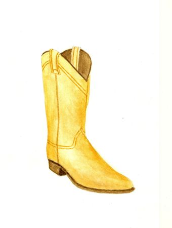 watercolour: Cowboy Boot