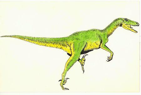 realism: Velociraptor Stock Photo