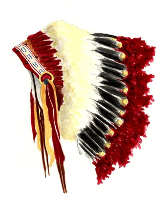 watercolour: Native American Headdress