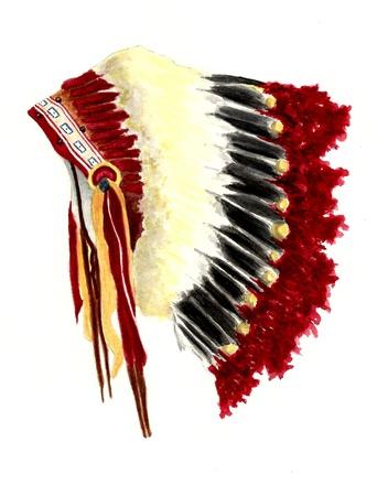 head-dress: Native American stroik Zdjęcie Seryjne