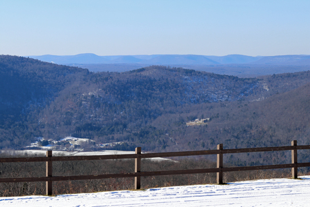 A scenic view of the endless mountains can be seen from High Knob overlook in Pennsylvania.