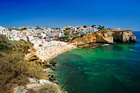 The beautiful city of Carvoeiro in Algarve, Portugal photo