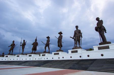 hua hin: Bronze statues of seven Thai kings,Rajabhakti Park,Hua Hin,Prachuap Khiri Khan