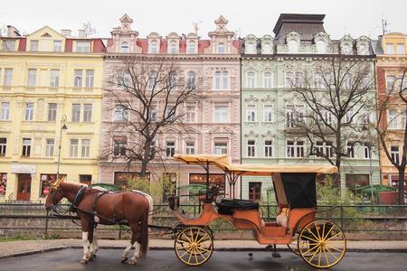 karlovy: Carriage, Karlovy Vary (Carlsbad), west Bohemia, Czech Republic