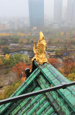 Shachi: roof ornament at Osaka Castle