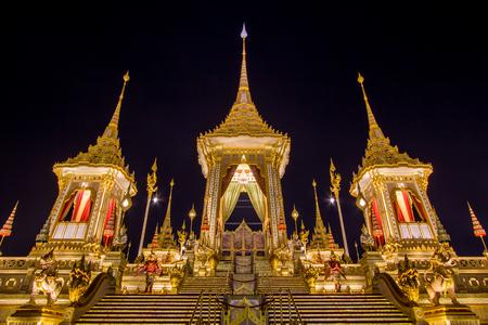 Exhibition on royal cremation ceremony,Sanam Luang ,Bangkok,Thailand on November7,2017: Royal Crematorium for the Royal Cremation of His Majesty King Bhumibol Adulyadej Editorial
