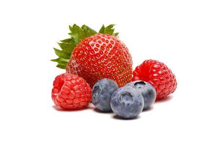 白い背景で隔離の果実