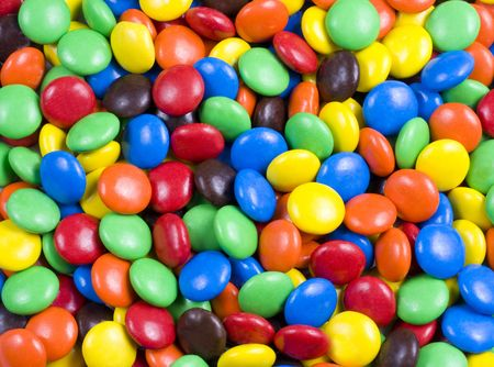 Assortment of Colorful Chocolate Candy Usable as Background or Pattern
