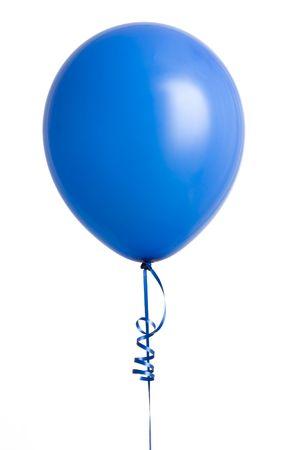 白い背景に分離された鮮やかな青い風船 写真素材 - 3493122