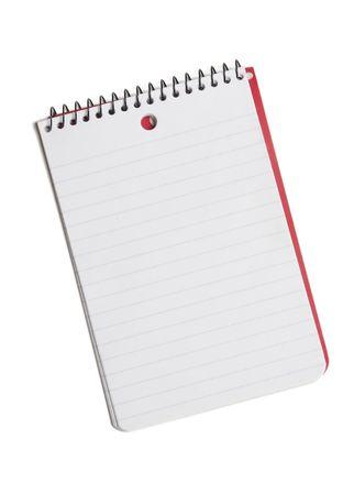 Basic note pad isolated on white background