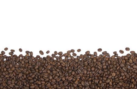 적합: Coffee beans on white background suitable for background of border