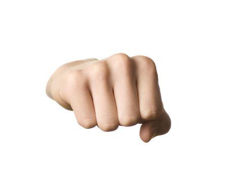 Fist geïsoleerd op witte achtergrond