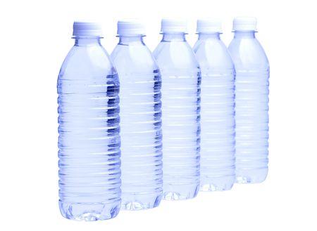 Water Bottle on White Background Stock fotó