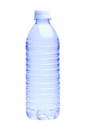 白い背景の上の水のボトル 写真素材