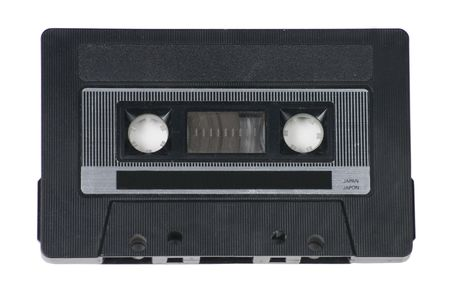 audio cassette: Classic, retro audio cassette tape on white background