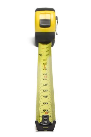 Tape measure isolated on white background 版權商用圖片