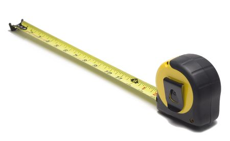 Tape measure isolated on white background Imagens - 5045380