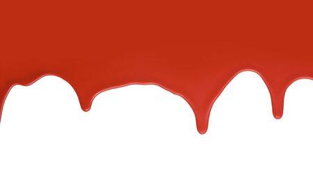 Red paint splatter on white background
