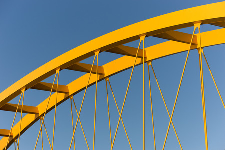 steel girder: Yellow bridge