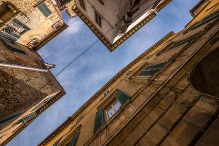 siena: Looking up in Siena, Italy Stock Photo
