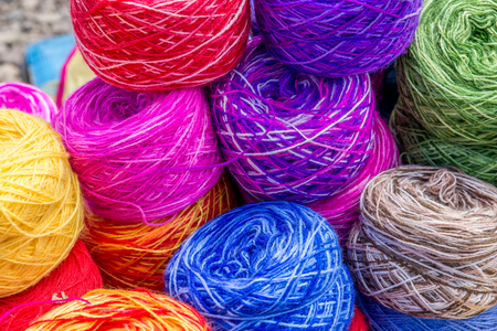 nit: Colored wool Stock Photo