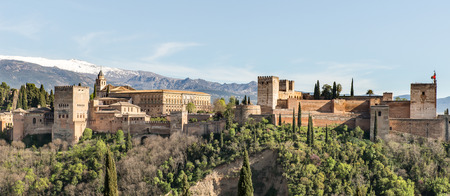 the  alhambra: Panoramic view of the Alhambra, Granada, Spain
