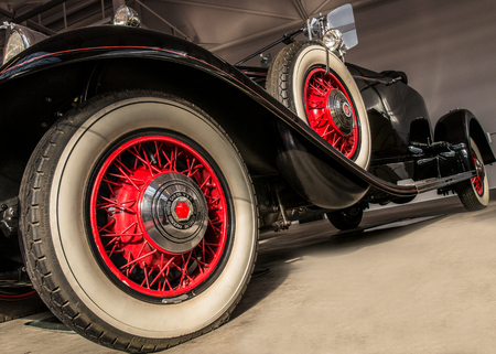 Low angle view of an vintage car Editorial