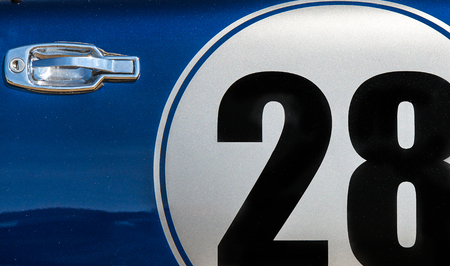 numeric: by or a rally car with number twenty eight