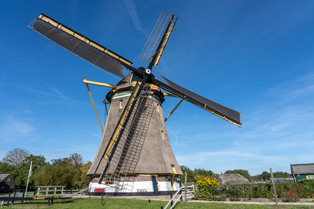 Many traditional windmills can still be found in the Netherlands. formerly they were used to grind grain into flour or to regulate the drainage of water. Today they are mainly a touristic attraction.