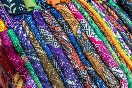 Cheerful and brightly colored batik clothing that is often found in Indonesia. Many tourists take this home as a souvenir Stock fotó