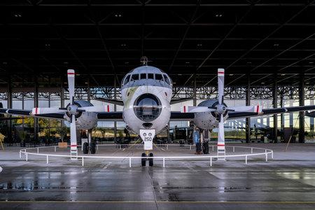 SOESTERBERG, NETHERLANDS - November 10, 2020: Breguet Br. 1150 Atlantic on display at military museum.