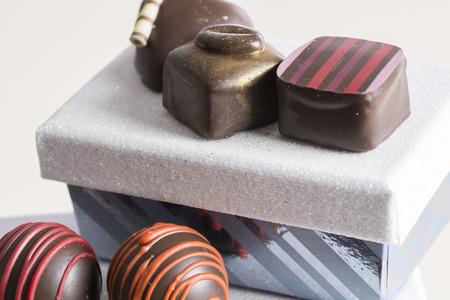 装飾、ギフト ボックスを各種べたつくチョコレートお菓子