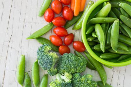 Closeup of assorted  vegetables. 版權商用圖片