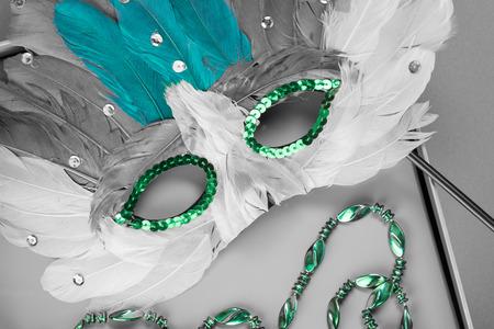 mardigras: Close up of mardigras mask . Stock Photo