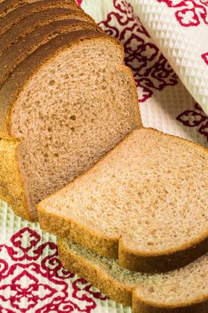 whole wheat bread: Whole wheat bread on a table.